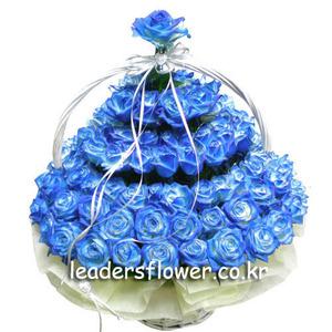 파란장미바구니(100송이) 2호